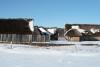 Wikinger Häuser Haithabu in Schnee 06-03-2010