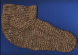 Genadelte Socke von Hallveig für Haithabu