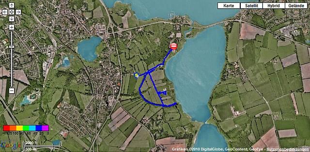 GPS-Karte Wanderung bei Haithabu WHH 19-12-2010