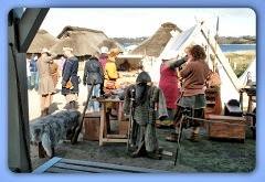 Museumsfreifläche mit den Wikinger Häuser in Haithabu - Die Nordlandsippe auf dem 2. Frühjahrsmarkt - Wikinger Museum Haithabu WHH 08-04-2012