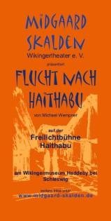 Flyer Flucht nach Haithabu / Midgaard Skalden 2012