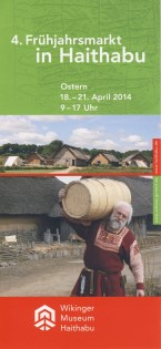 Flyer 4. Frühjahrsmarkt Wikinger Museum Haithabu 2014