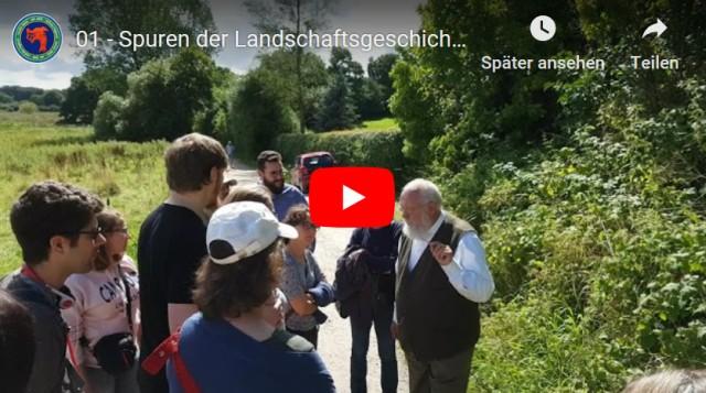 Auf den Spuren der Landschaftsgeschichte in Haithabu mit dem Archäobotaniker Dr. Helmut Kroll und Museumsleiterin (Wikinger Museum Haithabu) Ute Drews.